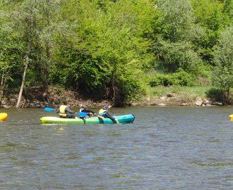 Randonnée en canoe sur l'allier